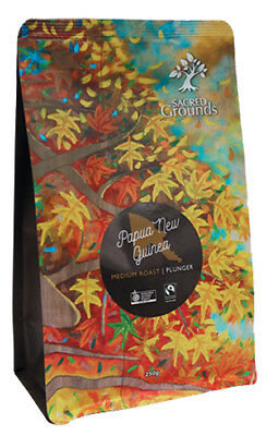 Fairtrade Organic - PNG Coffee Ground (Plunger)  250g - Sacred Grounds