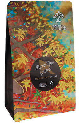 Fairtrade Organic - PNG Whole Coffee Beans  250g - Sacred Grounds