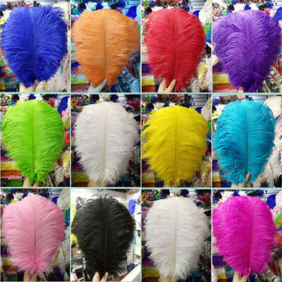 Wholesale 10/50/100pcs High Quality Natural OSTRICH FEATHERS 6-24inches/15-60cm