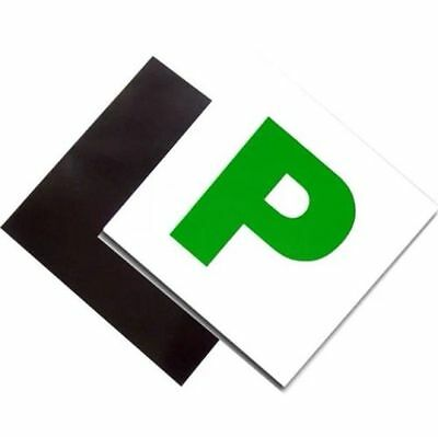 2 Pack Premium Fully Magnetic Passed Pass New Driver Green P Plate Plates Car