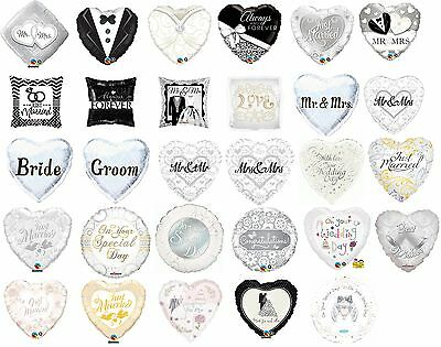 """Wedding Day Party Decoration Assorted Designs 18"""" Foil Helium Balloon"""