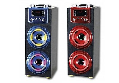 Altavoces Con Karaoke Bluetooth Entrada Usb Sd Radio Fm Luces Disco Altavoz