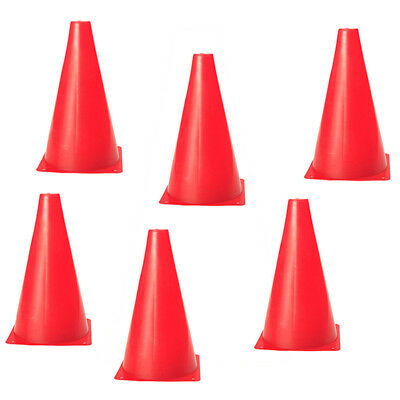 6Pcs Agility Cone Multifunction Safety Soccer Sports Field Marking - Red