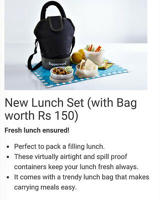 Tupperware new lunch set  -direct from india
