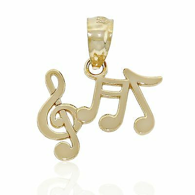 Charm America Jewelry 14k Solid Gold Gold Music Note Charm