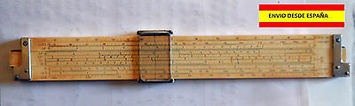 REGLA DE CÁLCULO KEUFFEL & ESSER Co. NY SLIDE RULER N4081-3 C 1947 31cm USA