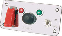 High Quality Alloy Switch Panel with Switches & Warning lights (899)