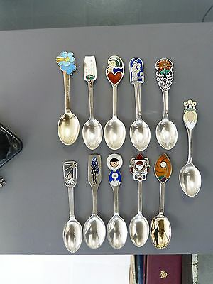 1925 -1992 Lot Of 11 Michelsen Danish Sterling Silver Christmas Spoon