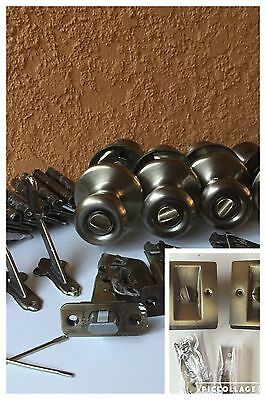 Antique Brass Privacy Passage Door Knob Handrail Bracket Pocket Door Multi Lot