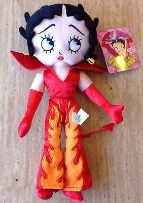 """New Betty Boop 15"""" Plush Doll Red Devil Fire Flames Sugar Loaf"""