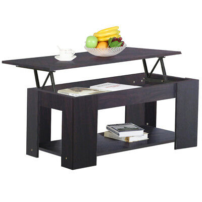 Modern Wood Lift Top Coffee / End Table with Storage Space Living Room Furniture