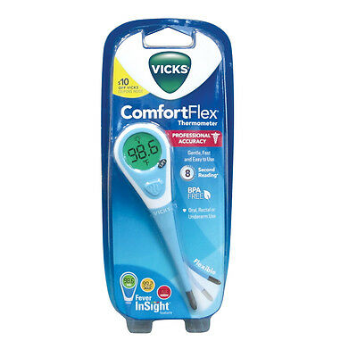 Vicks Comfortflex Digital Thermometer - Use for Oral, Rectal or Under the Arm