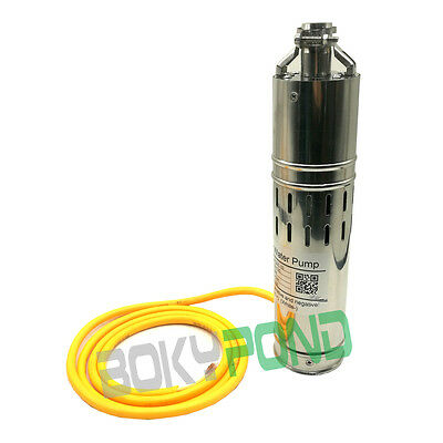 DC 12/24V Solar Brushless 10/20M Stainless Submersible Deep Well Water Pump