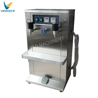 VINOVO W-10 multipurpose electric double head automatic bottle filling machine