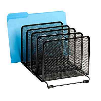 Desktop Mesh Collection Stacking FIle Paper Document Sorter Organizer 5-Section