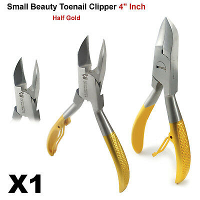 """Professional Chiropody Podiatry Toe Nail Clippers - Cutter 4"""" Nipper Half Golden"""