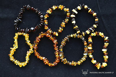 Baltic Amber Teething Bracelet Anklet Baby Adult Natural Beads Choose size