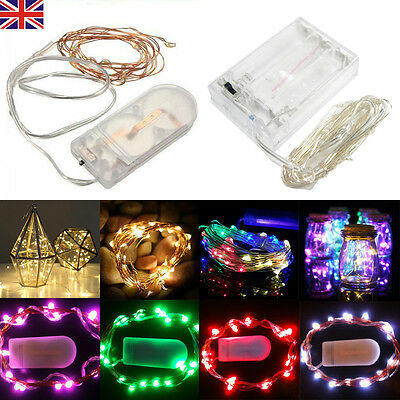 30 Led Battery Operated Micro Copper Wire String Fairy Party Xmas Wedding Light