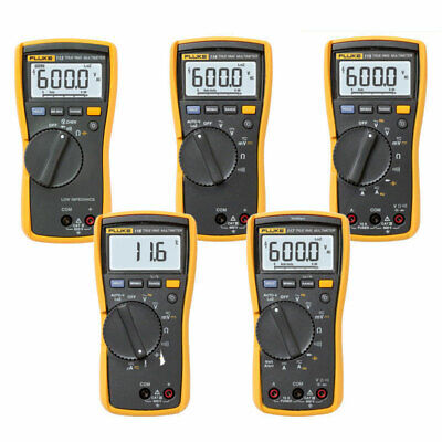 Fluke 113 114 115 116 117 True RMS Digital HVAC Multimeter with Test Leads