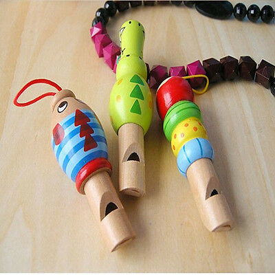 New Wooden Kid Animal Whistle Musical Instrument Early Develop Toy