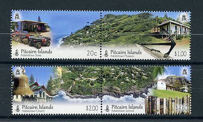 Pitcairn Islands 2016 MNH Adamstown Community 4v Set in Se-tenant Pairs Stamps