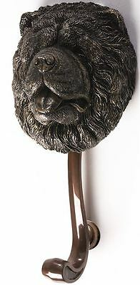 Bronze Finish Cold Cast Resin Chow Chow Dog Head Door Knocker