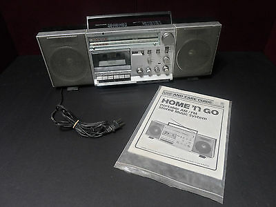 Vintage Ge Home 'n Go Radio 3-5265A Working But Foward Button Ghettoblaster