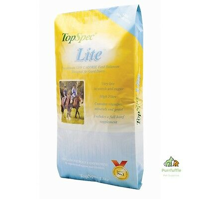 15Kg Topspec Lite Feed Balancer Low Calorie Horse Pony Food Non-Heating