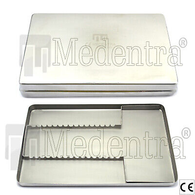 Stainless Steel Dental Surgical Instrument Exam Tray Cassette 288x187x29 Lab New