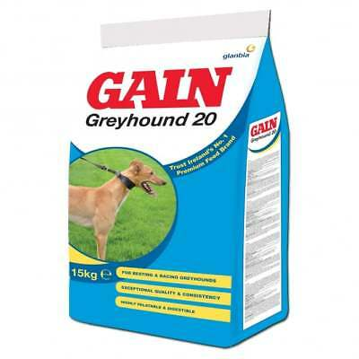 Gain Greyhound 20 Active Lurcher 20% Protein Dog Food 15Kg/ 30Kg