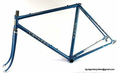 VINTAGE Race bike Cavazza made in Italy Lugged Steel Frame Campagnolo dropouts