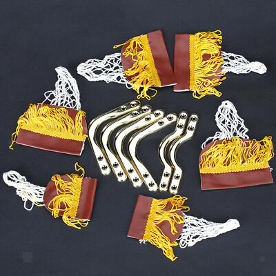 Pool Snooker Table Cotton Nets Pockets with Fringe Brass Finish Irons