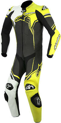 ALPINESTARS 2017 GP PLUS 1-Piece Leather Riding Suit (Black/Wht/Ylw) Choose Size