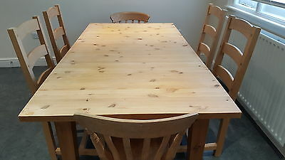 VINTAGE McINTOSH TEAK EXTENDING DINING TABLE AND 6 CHAIRS PicClic