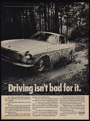 1968 VOLVO 1800S Sports Car - Driving Isn't Bad For It. - SCCA CHAMP  VINTAGE AD