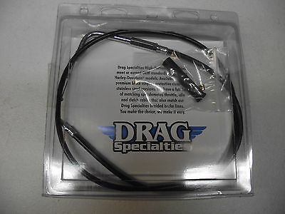 Drag Specialties  BLACK VINYL IDLE CABLE for Harley Motorcycles 41 1/2 inch