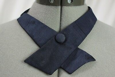 Womens dark navy blue adjustable ascot knot 16-20