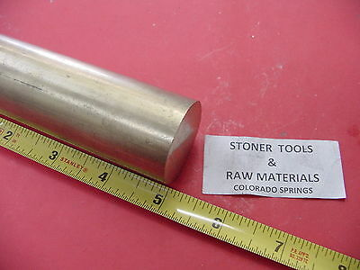 "1-1/4"" OD Brass C360 Round Bar 5"" Length H02 Solid Rod New Lathe Bar Stock 1.25"""