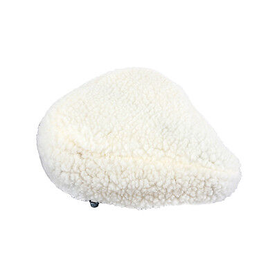 Sunlite Bicycle Fur Saddle Cover White for Cruiser Excercise Comfort Bike Seats