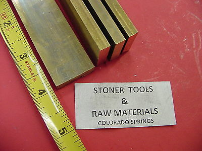 "4 Pieces 1/4"" x 1"" C360 BRASS FLAT BAR 4"" long Solid .250"" Mill Stock H02"