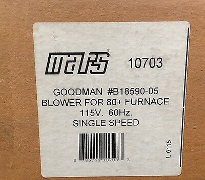 ~DiscountHVAC~MS-10703-Mars ID Blower Motor-Furnace 80+ 115V -Goodman #B40590-00