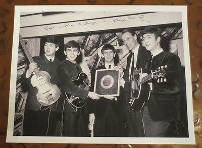 """Sir George Martin signed autographed photo the Beatles producer """"Fifth Beatle"""""""