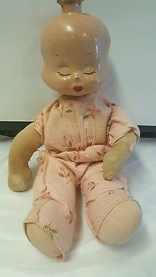 Trudy Antique Composition 'Smiley Weepy Sleepy'  Doll Three Face