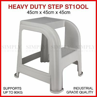 Step Stool Ladder Foot Industrial Plastic Footstool Children Stepladder Chair