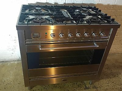 Ilve Gas Freestanding Cooktop Oven 90Cm Excl Condition Bargain