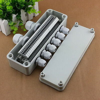 IP65 Waterproof Wiring Junction Box 80*250*70mm UK2.5B Din Rail Terminal Blocks