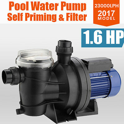 1200W 383L/M Swimming Pool  Water Pump Spa Electric Self Priming Pressure Filter