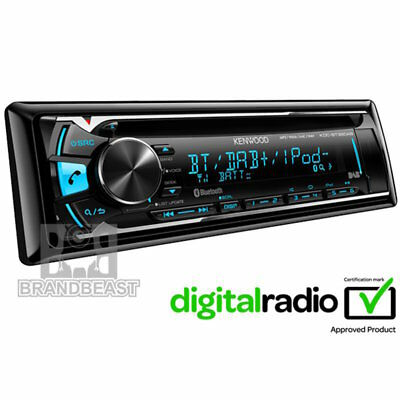 New Kenwood Kdc-bt39dab Usb Cd Bluetooth Car Stereo Android Iphone Digital Dab+