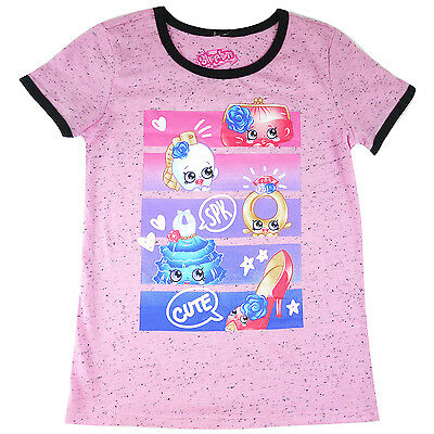 Girls SHOPKINS tshirt top short sleeve T-shirt clothing size 4-14 gorgeous gift