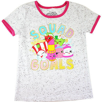 Girls SHOPKINS tshirt top short sleeve T-shirt clothing size 4-14 gorgeous new